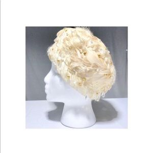 Christian Dior Chapeaux Feathered Hat Vintage
